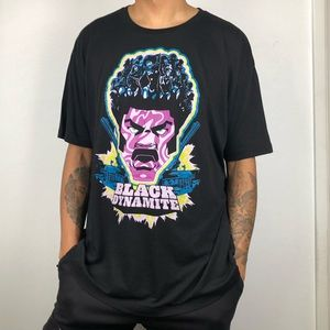 ⚫️🟣 Black Dynamite Crew Graphic T-shirt